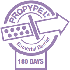 Propypel Bacterial Barrier : Maintaining sterility for 180 days minimum