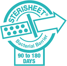 Sterisheet Bacterial Barrier : Maintaining sterility for 90 to 180 days minimum